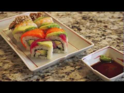 「日本美女教你做彩虹捲」- How to Make a Rainbow Sushi Roll