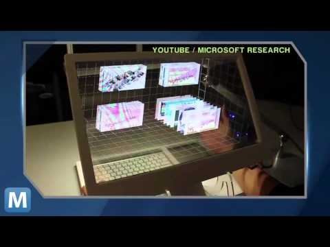 「新型3D手控桌上型電腦螢幕」- The Desktop Computer Gets an OLED, 3D, Kinect-powered Overhaul
