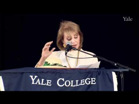 傳奇女主播Barbara Walters耶魯大學的畢業演說
