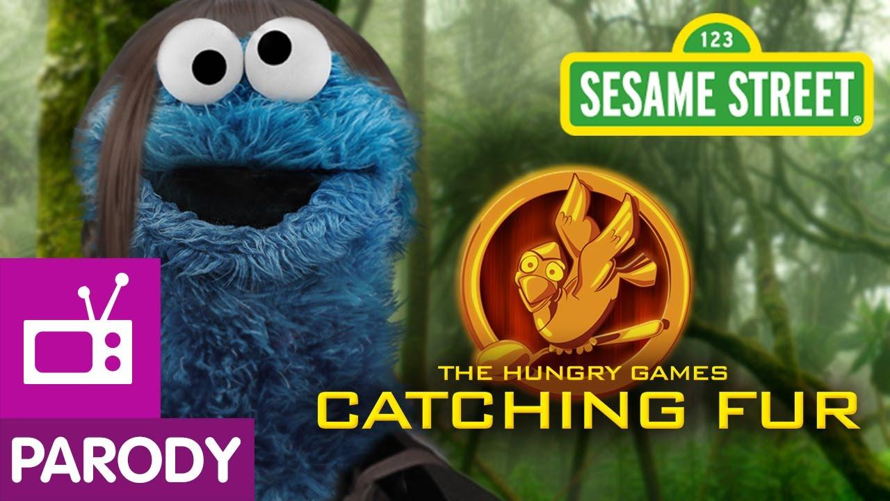 「芝麻街年度大片《饑餓遊戲:毛怪燎原》」- The Hungry Games: Catching Fur Sesame Street Parody