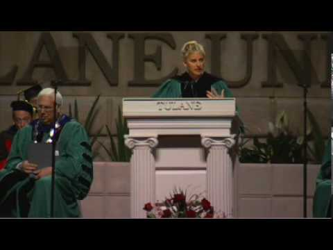 「奧斯卡主持人Ellen的幽默畢業演說」- Ellen DeGeneres at Tulane's 2009 Commencement Speech