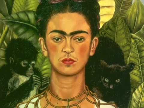「芙烈達‧卡蘿:〈卡蘿戴荊棘和蜂鳥項鍊的自畫像〉」- Frida Kahlo: Self-portrait with Thorn Necklace and Hummingbird
