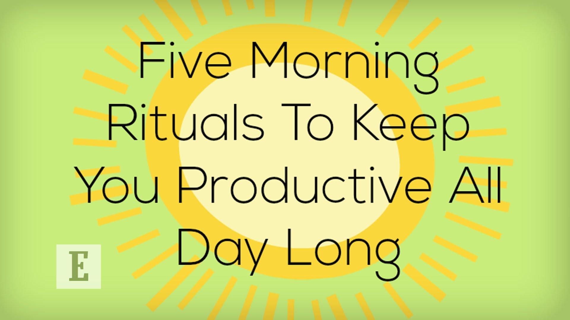 「快跟著做!五件讓你邁向成功的早晨小事」- 5 Morning Rituals to Keep You Productive All Day Long