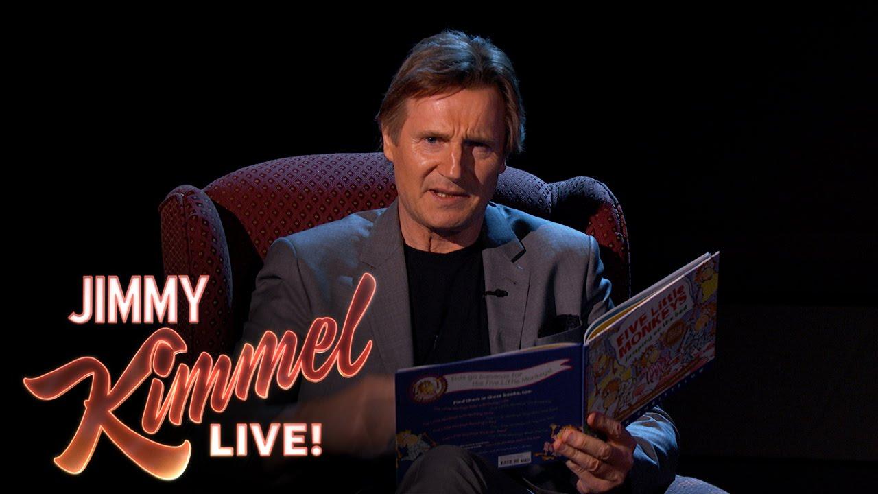 「乖乖躺好,地表最強老爸來念故事啦!」- Liam Neeson Reads a Bedtime Story