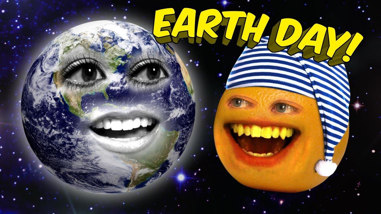「柳丁擱來亂--地球別死啊!」- Annoying Orange - Earth Day