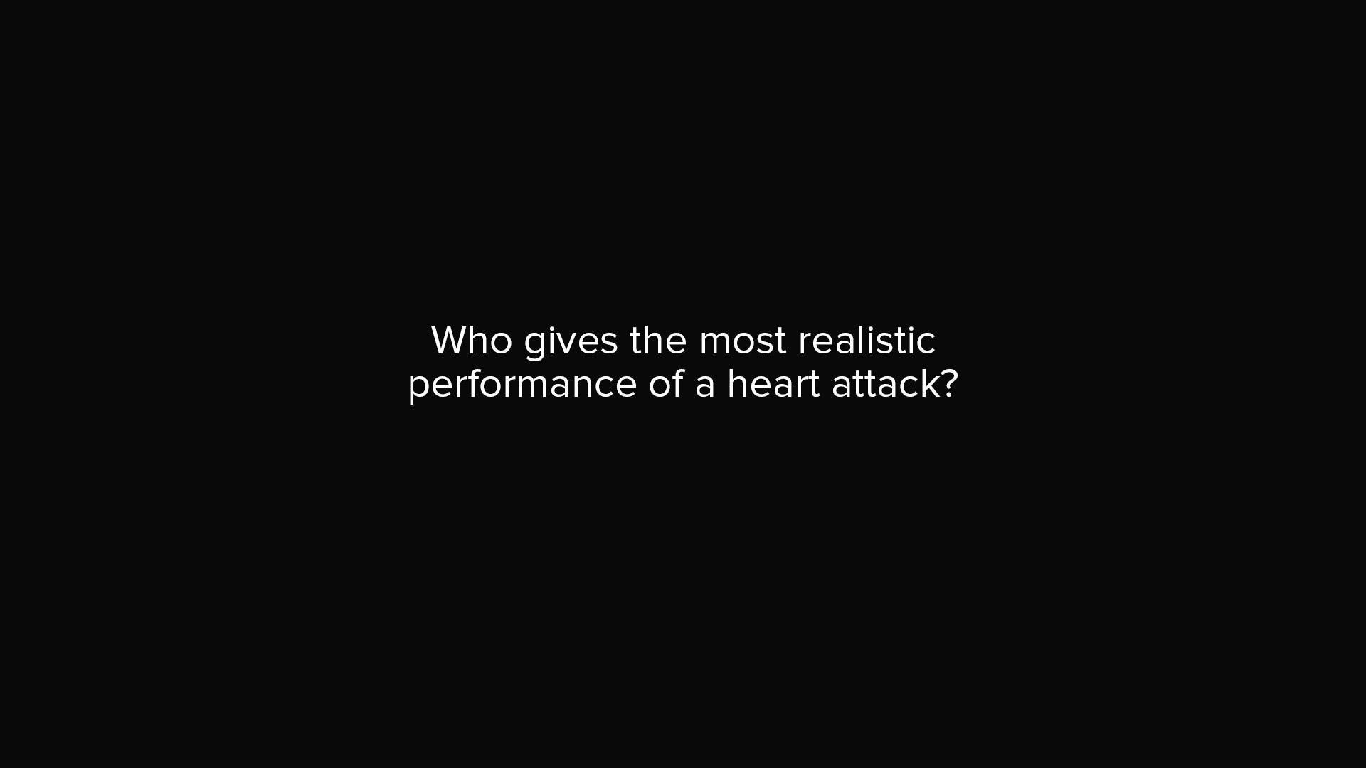 健康小常識:誰是真的心臟病發作?
