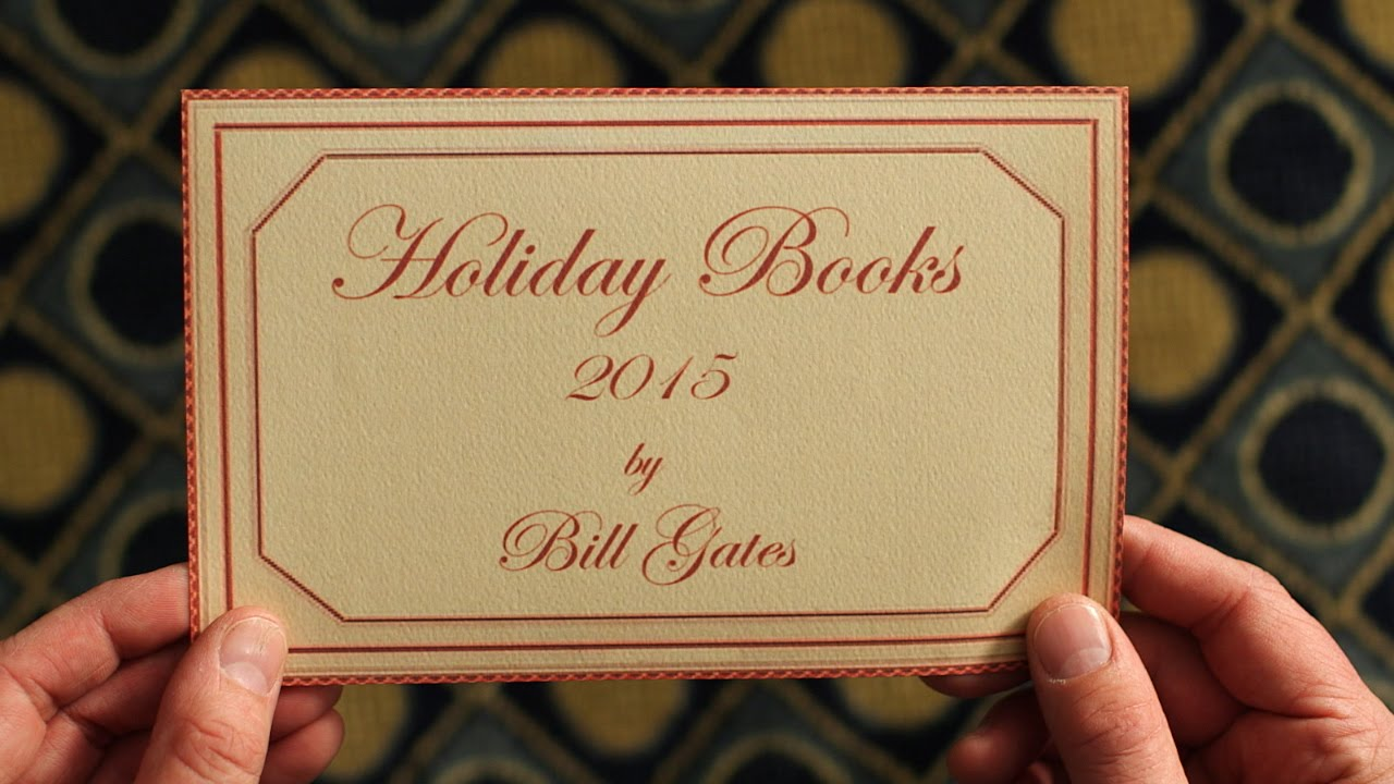 「比爾蓋茲的歲末推薦書單」- Best Books of 2015