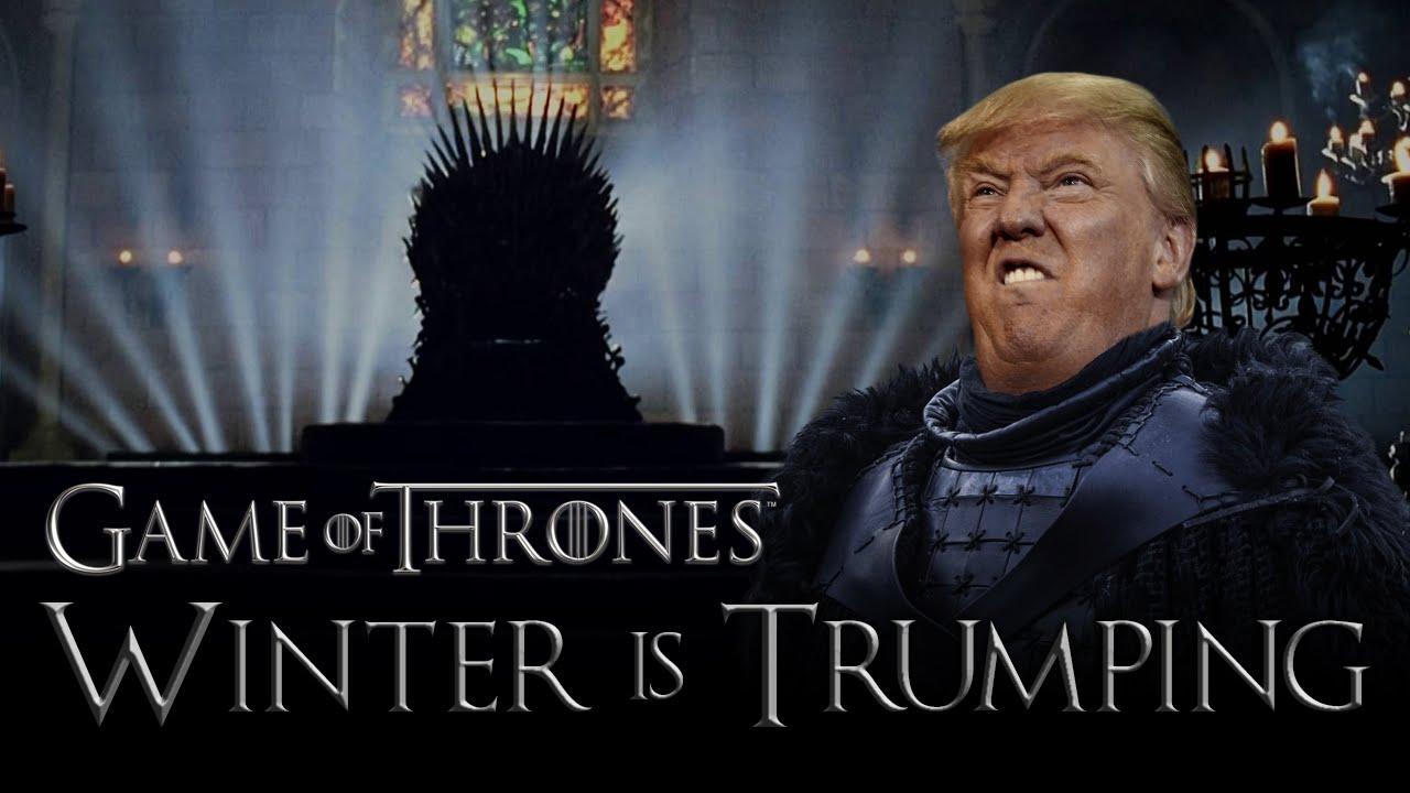 「川普不選總統跑去演《權力遊戲》了?!」- Winter Is Trumping