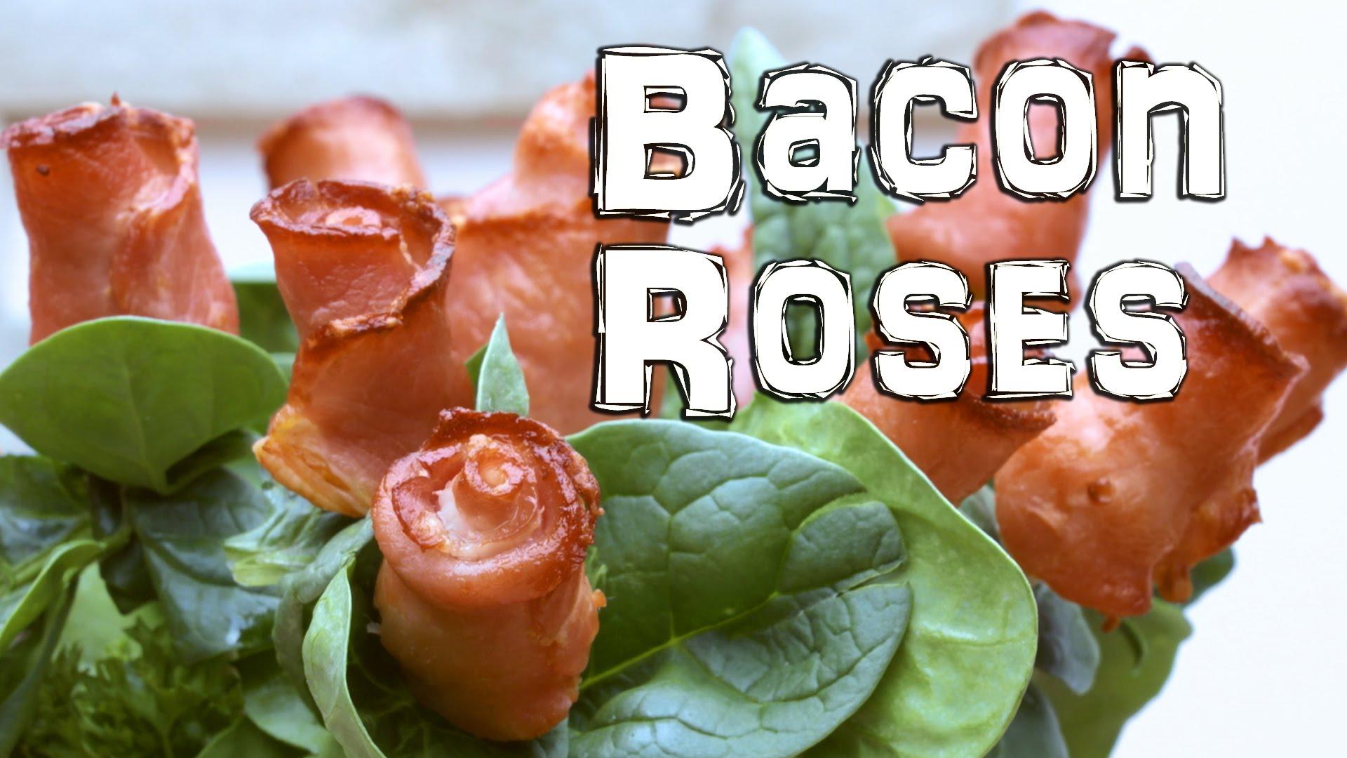 「肉食者天堂:『培根』玫瑰輕鬆做!」- How to Make Bacon Roses