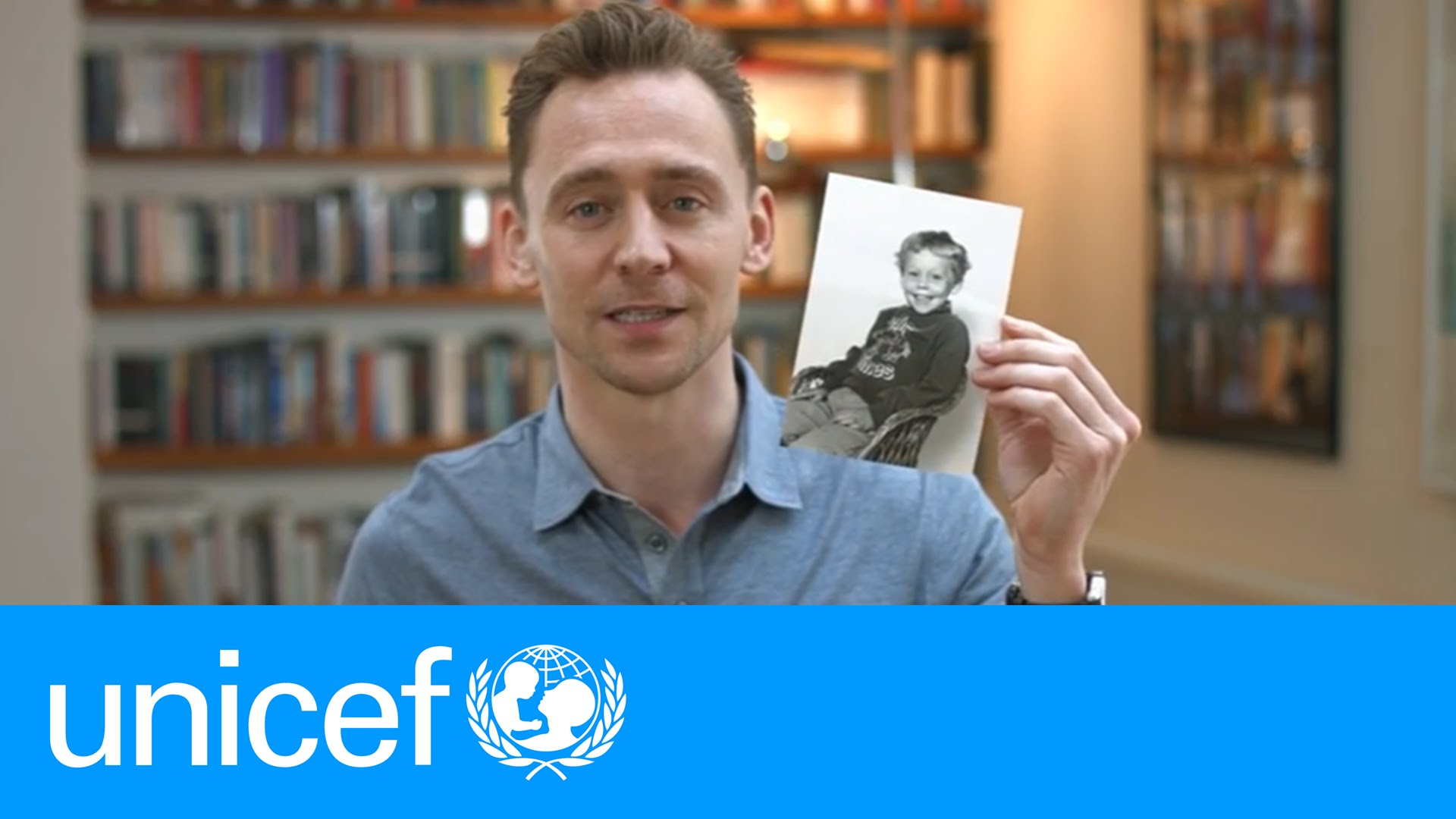 「#EmergencyLessons 跟著『洛基』關懷兒童教育」- Tom Hiddleston Shares His School Photo