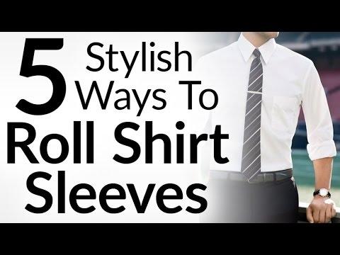 時尚型男的 5 種袖子捲法
