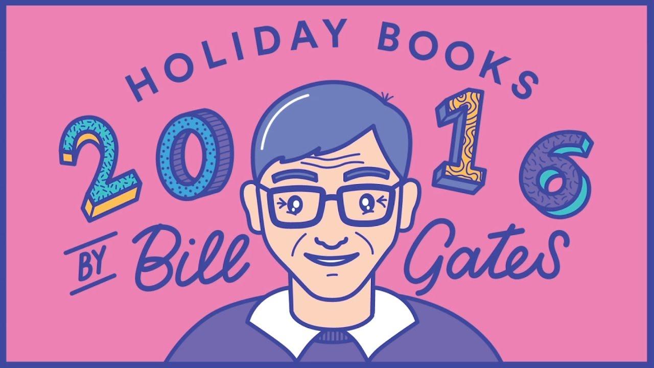 「新的一年,跟著比爾‧蓋茲一起讀好書」- Holiday Books 2016