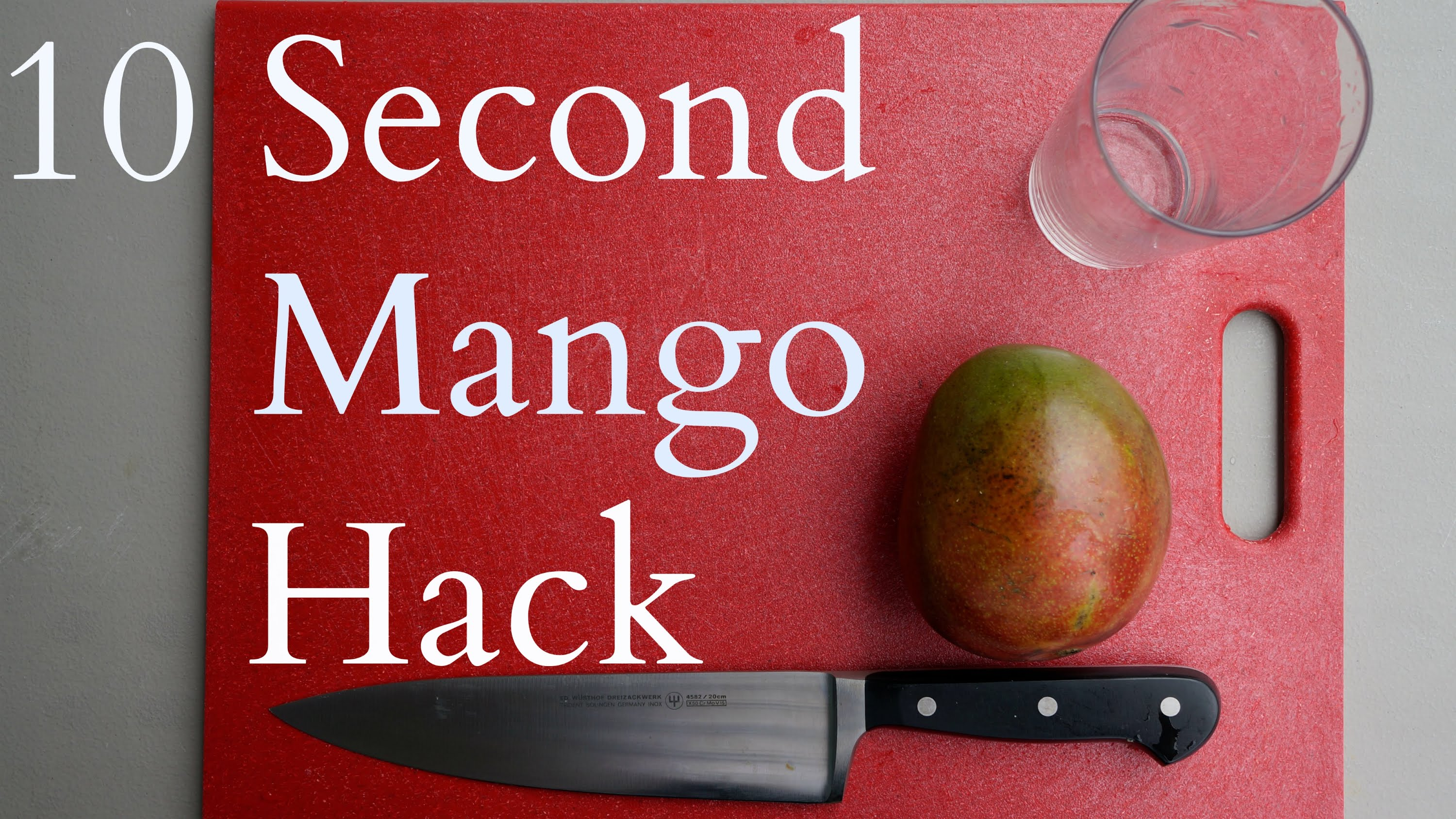 「這樣做,十秒就讓芒果光溜溜!」- Fastest Way to Skin a Mango: 10 Sec Mango Hack