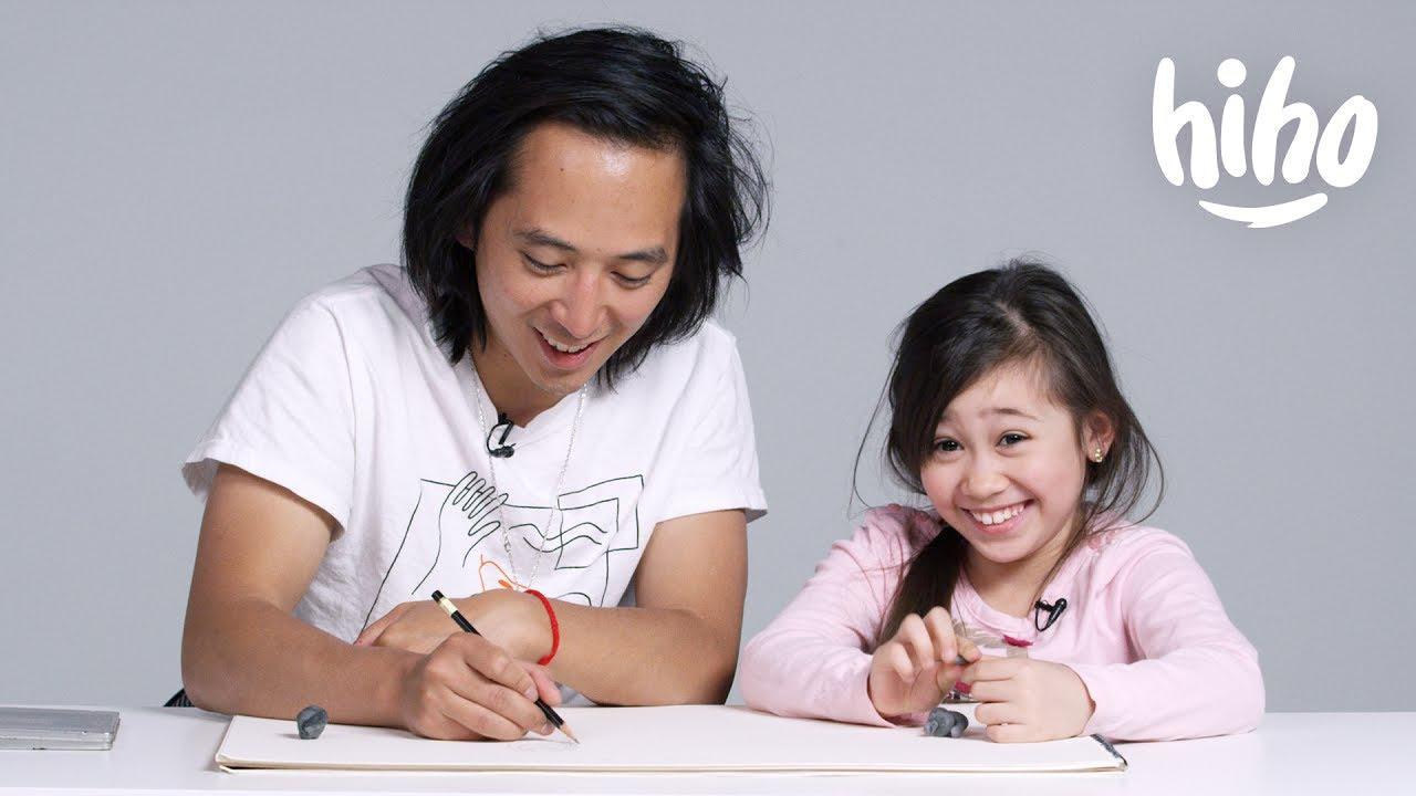 「童言童語『畫』爸媽,結果老爸變成一隻熊?!」- Kids Describe Their Parents to an Illustrator
