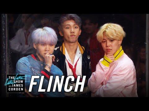 「BTS 防彈少年團登上《深夜秀》,玩遊戲嚇到吃手手!」- Flinch w/ BTS