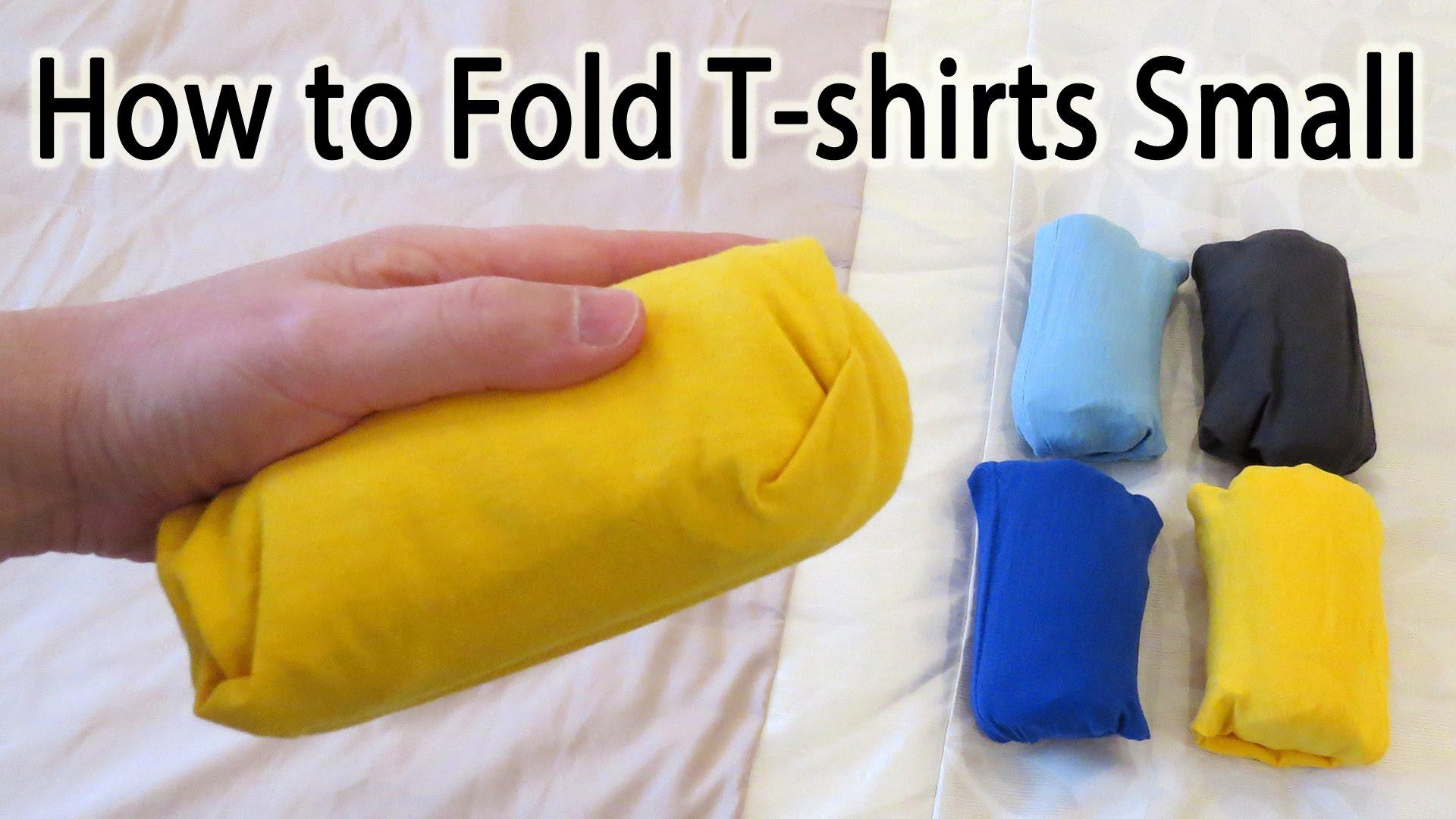 「打包行李一定要會這招『口袋式摺衣法』」- How to Fold a T-Shirt Small to Save Space