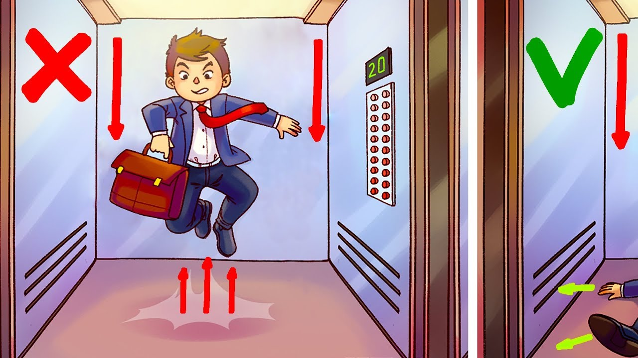 「搭上失速電梯時,怎麼做才能活下來?」- The Only Way to Survive in a Free-Falling Elevator