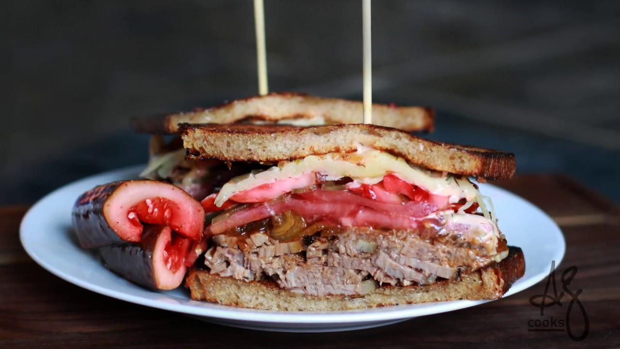 太犯規了!讓人口水直流的『牛胸肉三明治』食譜大公開