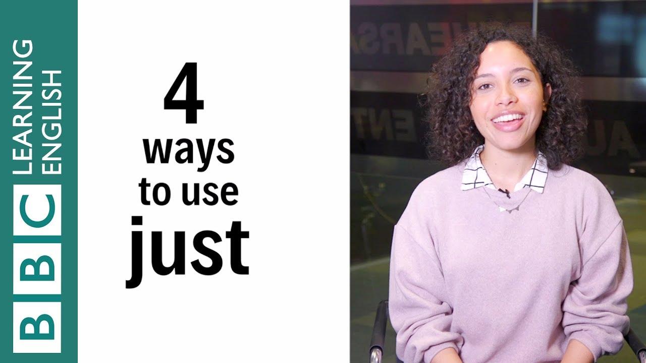一分鐘學會 just 的四種用法!