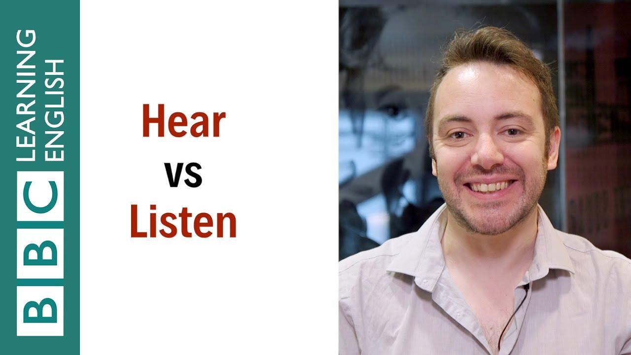 【一分鐘英語】都是『聽』,hear 跟 listen 到底差在哪裡呢?